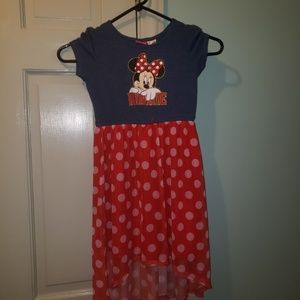 Euc Disney girls dress size 6/6x red & blue